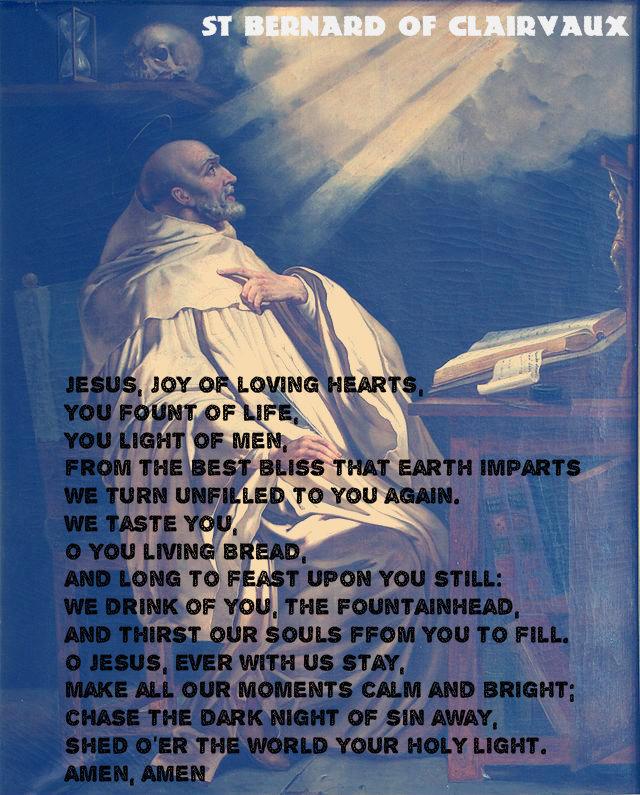 ST BERNARD'S PRAYER MYPIC