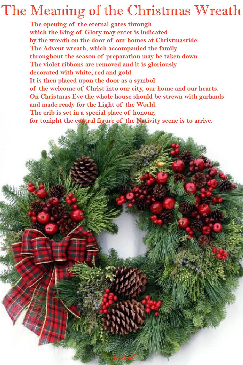 The Meaning Of The Christmas Wreath