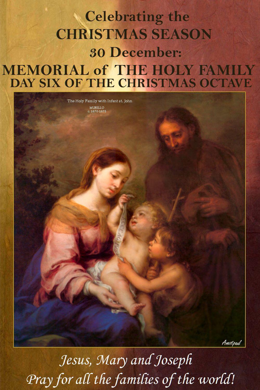 Celebrating the CHRISTMAS SEASON – 30 December: MEMORIAL of THE HOLY ...