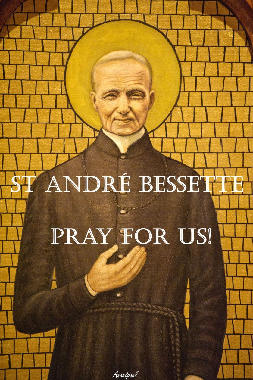 Oil painting of Brother Andre on wall of St Patrick's Basilica, Montreal