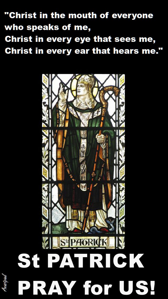 christ in the mouth - st patrick pray for us