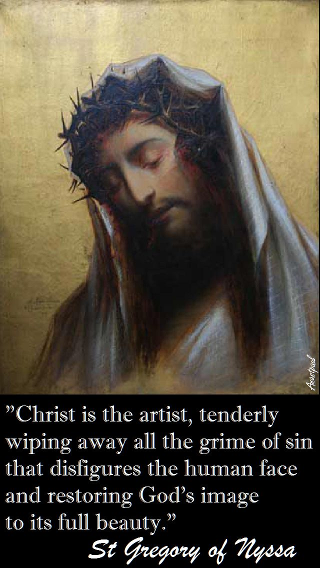 CHRIST IS THE ARTIST-ST GREGORY OF NYSSA