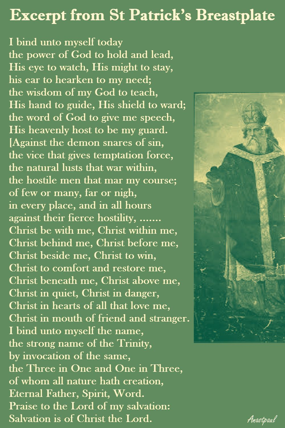 EXCERPT FROM ST P'S BREASTPLATE