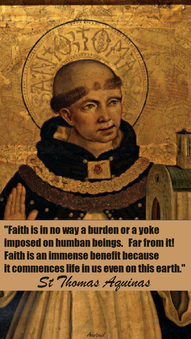 FAITHIS IN NO WAY-ST THOMAS AQUINAS