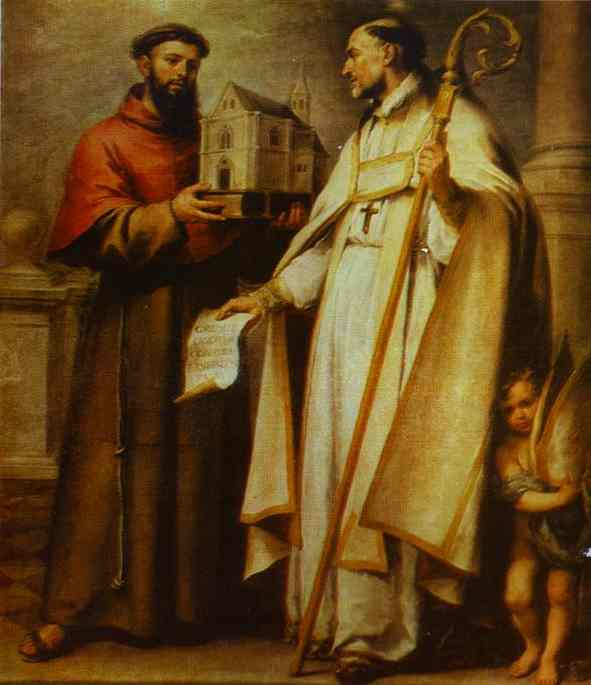 st_leander_and_st_bonaventura_1665-1666_XX_museum_of_fine_arts_sevilla_spain