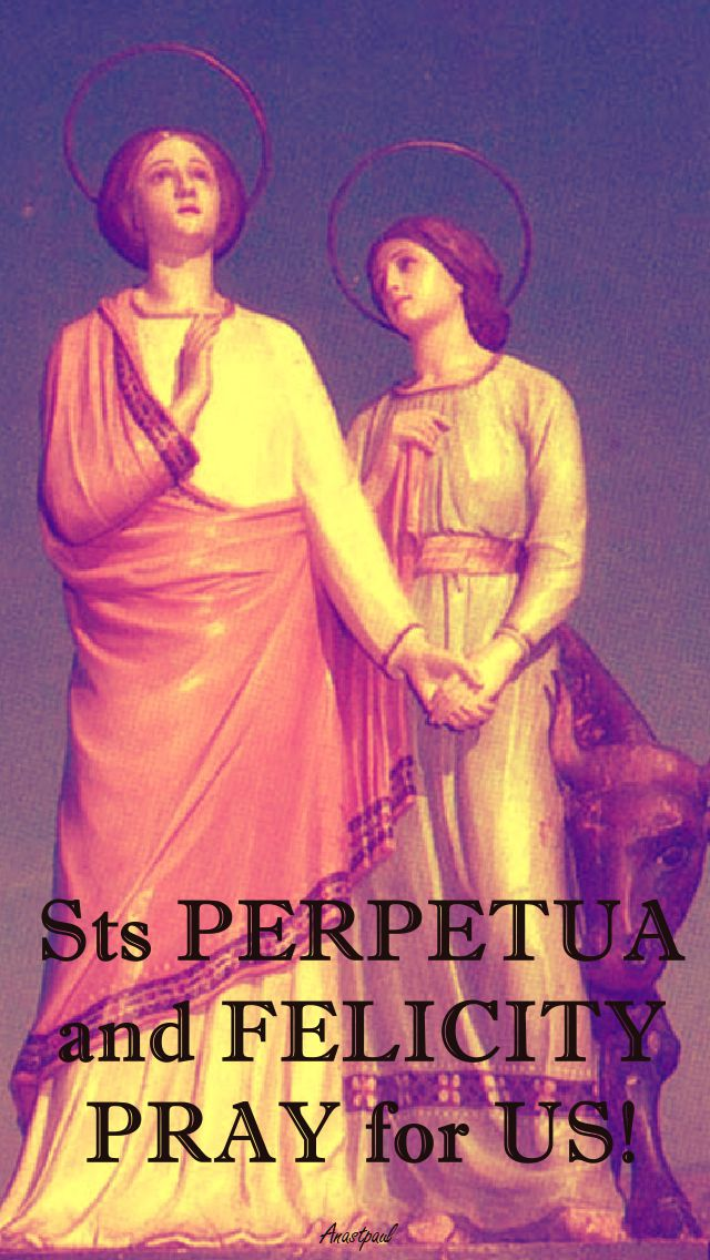 STS PERPETUA & FELICITY PRAY FOR US