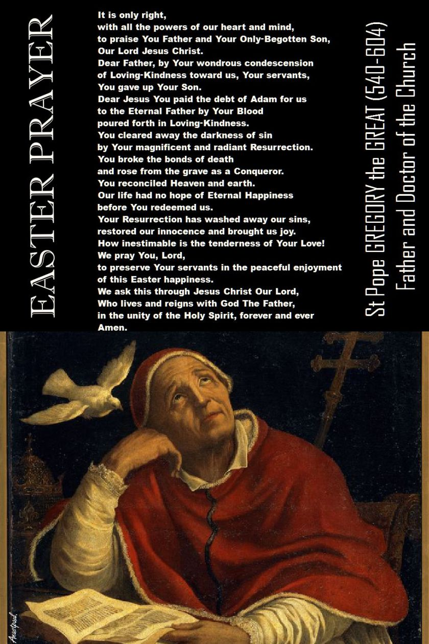 EASTER PRAYER OF ST GREGORY THE GREAT