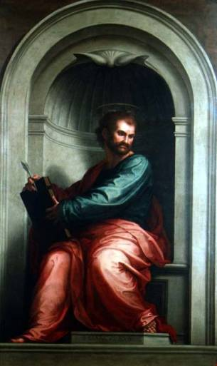 BAT52241 St. Mark the Evangelist (copy of a painting by Fra Bartolommeo) by Gabbiani, Antonio Domenico (1652-1726) Museo di San Marco dell'Angelico, Florence, Italy Italian, out of copyright