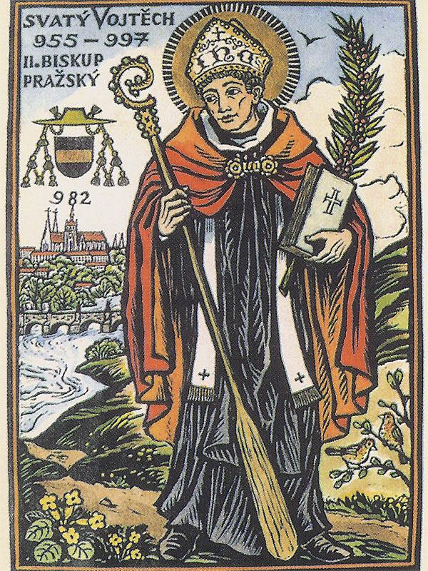 Heiliger-Adalbert-Heiligenbildchen