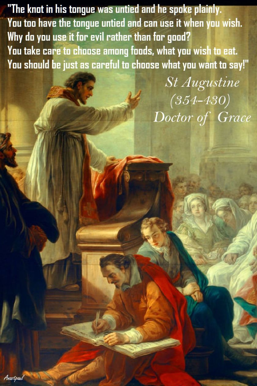 HIS TONGUE WAS UNTIED-ST AUGUSTINE