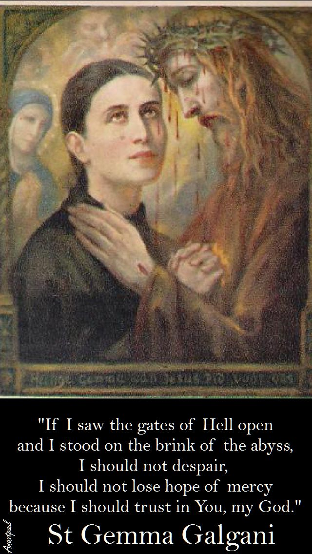 I should trust in you my God-St Gemma Galgani