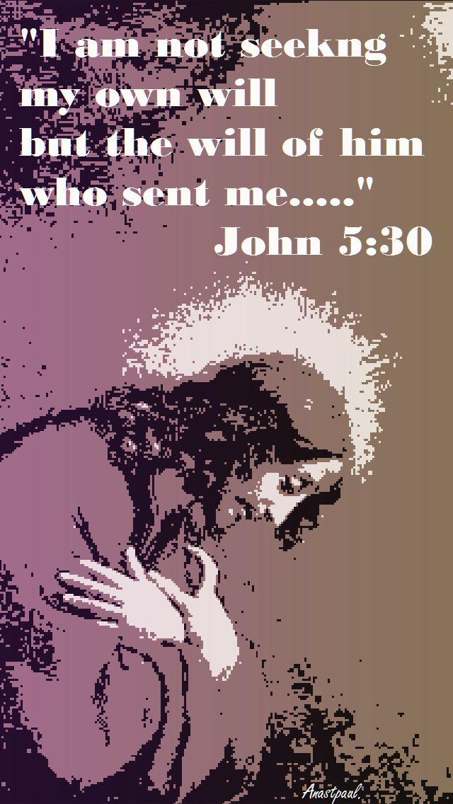 JOHN 5-30