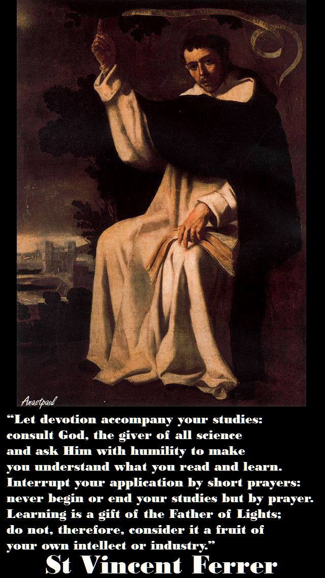 LET DEVOTION -ST VINCENT FERRER
