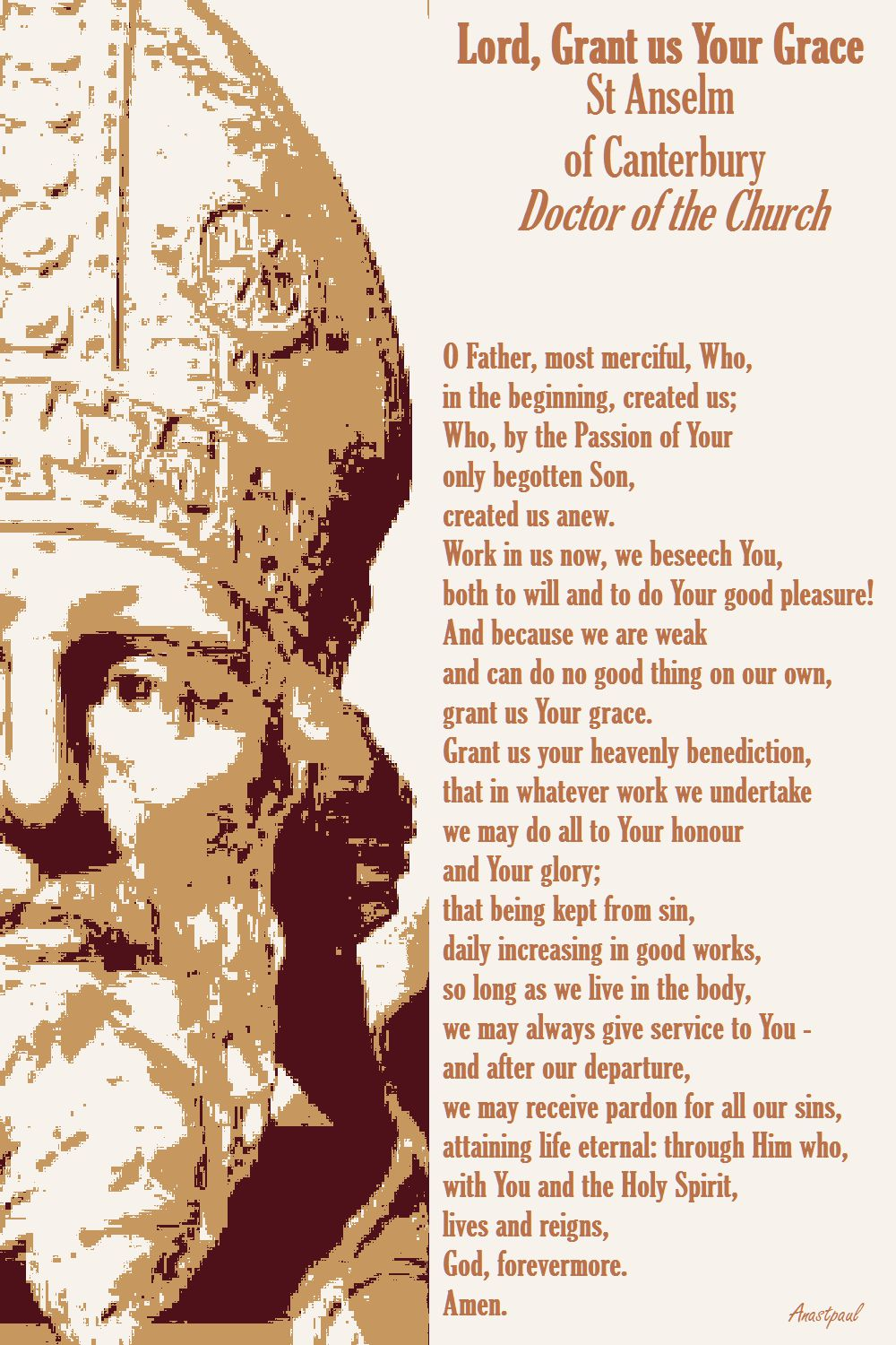 LORD GRANT US YOUR GRACE - S ANSELM