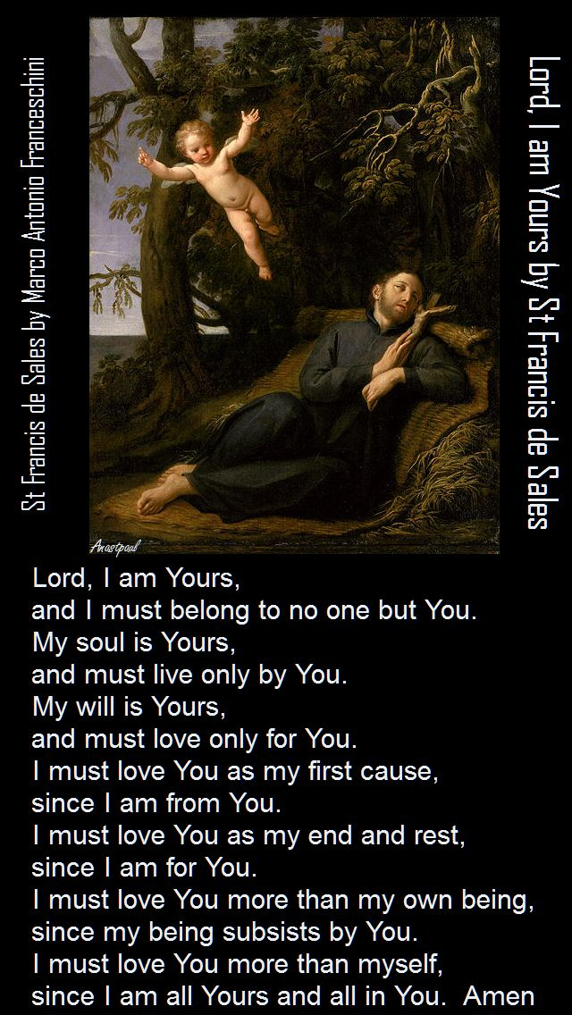 LORD I AM YOURS - ST FRANCIS DE SALES