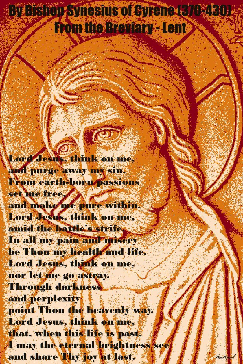 LORD JESUS THINK ON ME