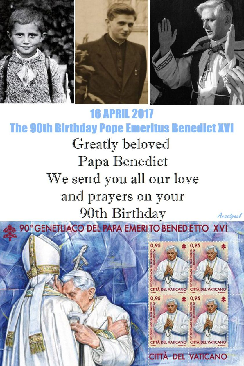 POPE BENEDICT 90TH BIRTHDAY