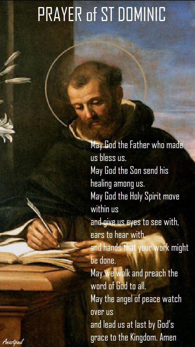 PRAYER OF ST DOMINIC