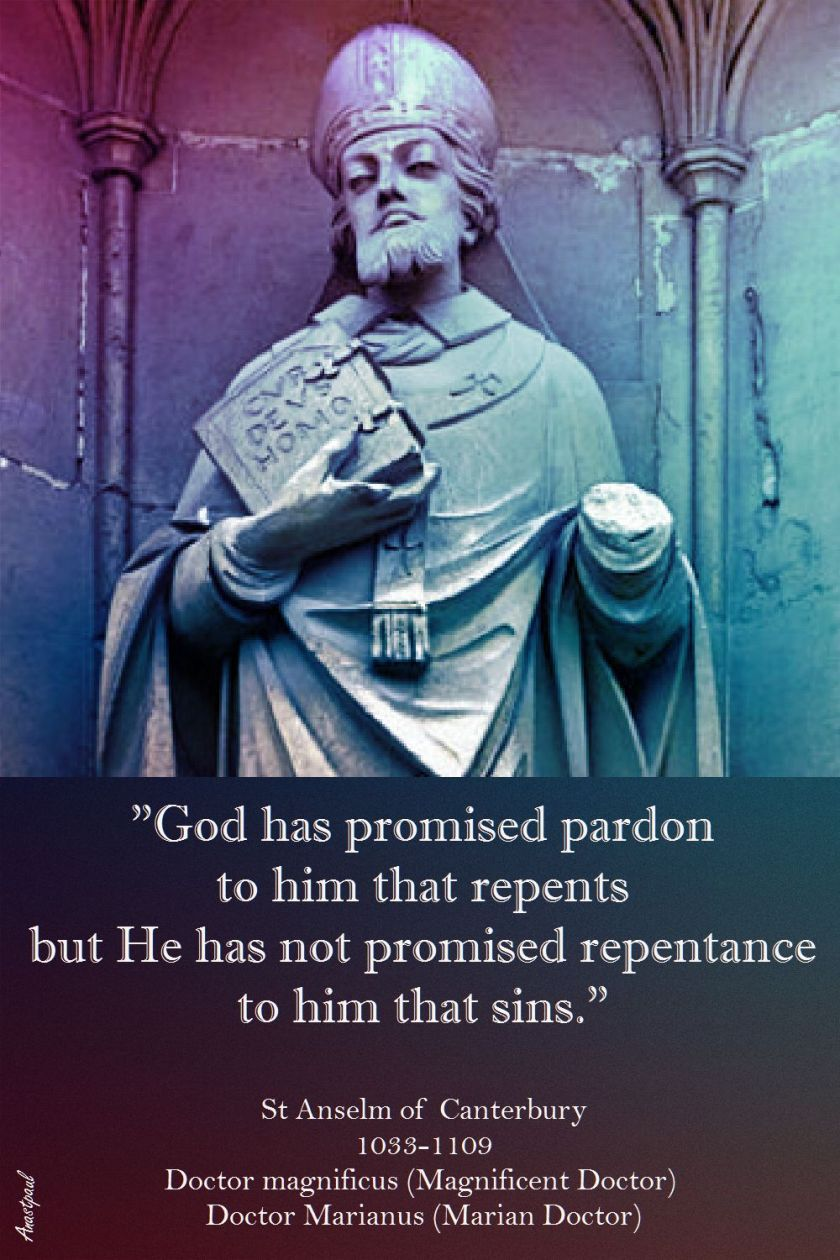 ST ANSLEM - GOD HAS PROMISED PARDON