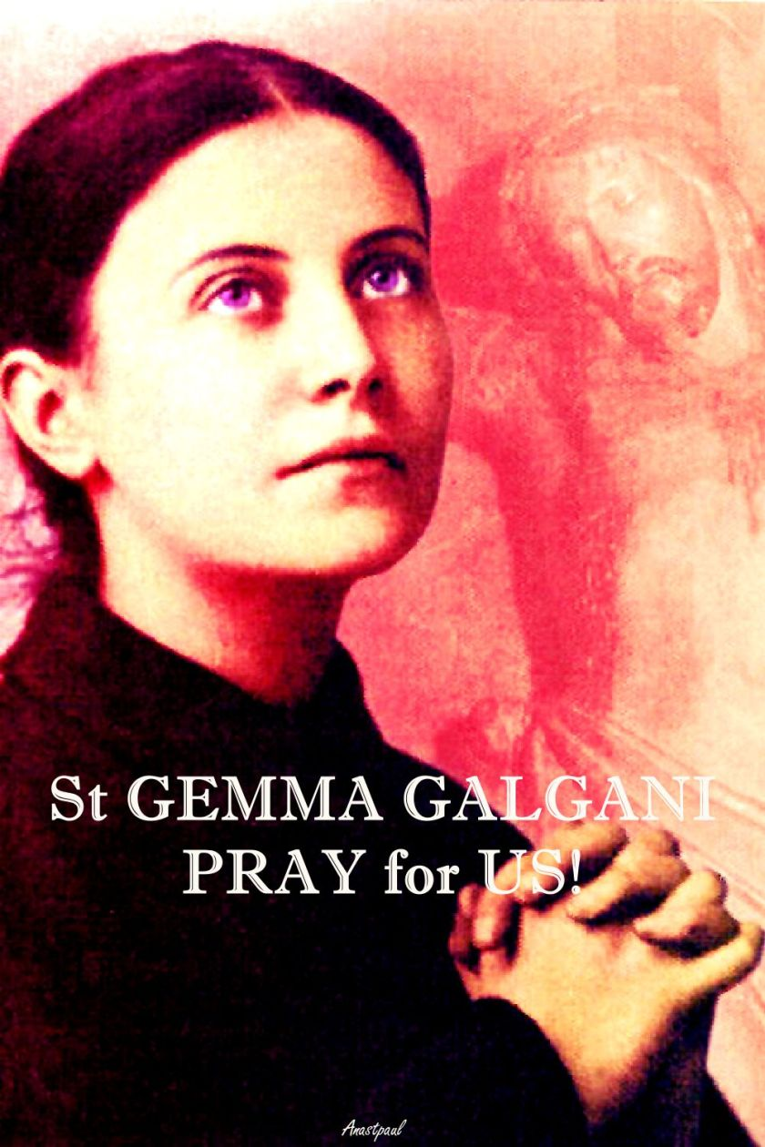 ST GEMMA -PRAY FOR US