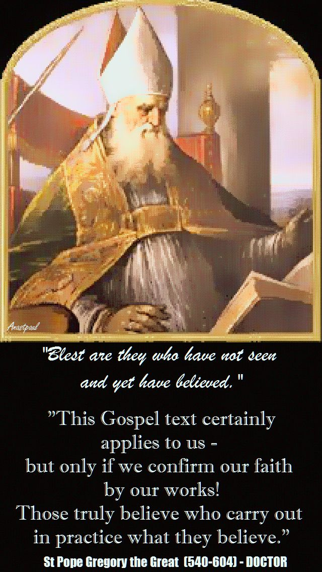 ST GREGORY THE GREAT - THIS GOSPEL TEXT