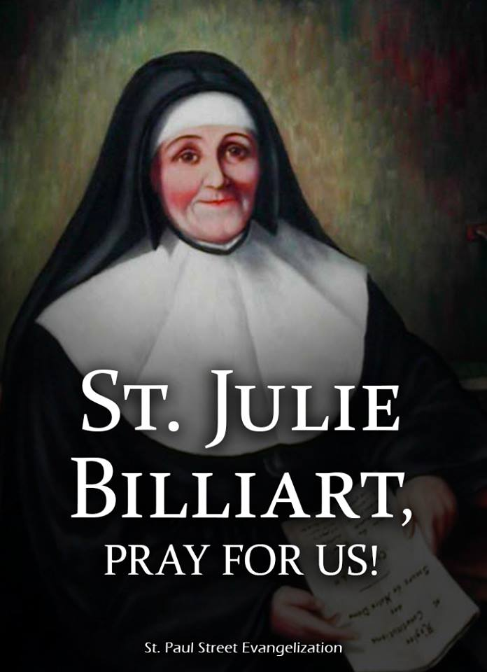 ST JULIE BILLIART - APRIL 8