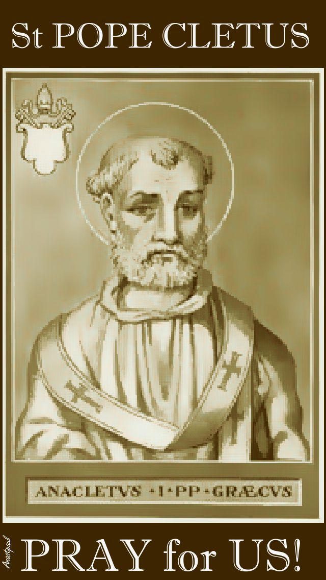ST POPE CLETUS - PRAY FOR US