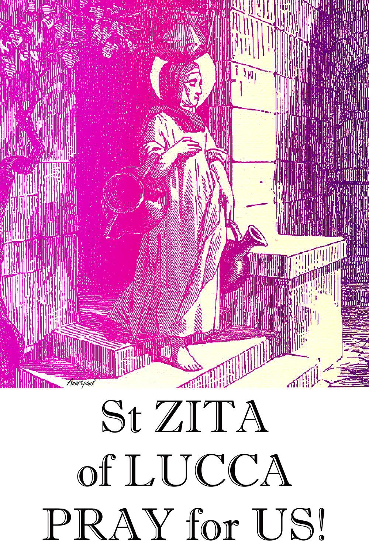 ST ZITA PRAY FOR US 2