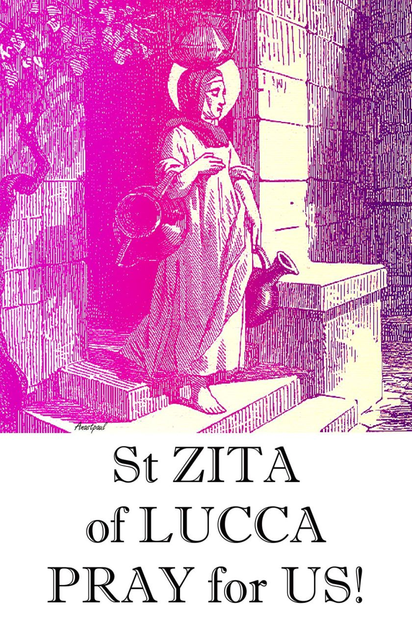 ST ZITA PRAY FOR US 2