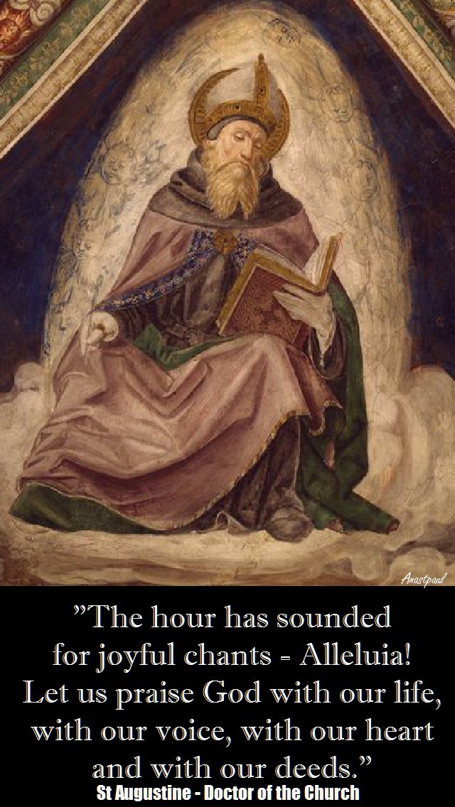 THE HOUR HAS SOUNDED-ST AUGUSTINE