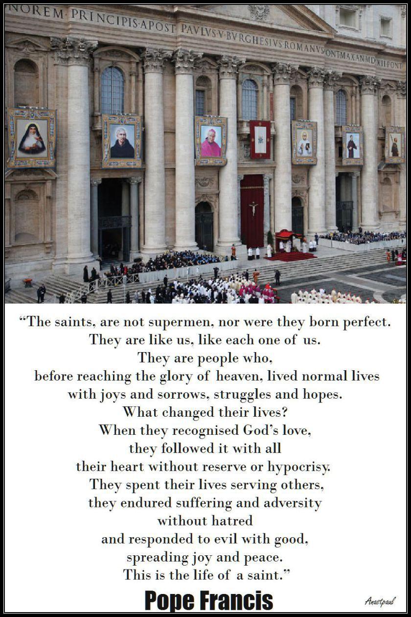 the-saints-pope-francis.18 april 2017