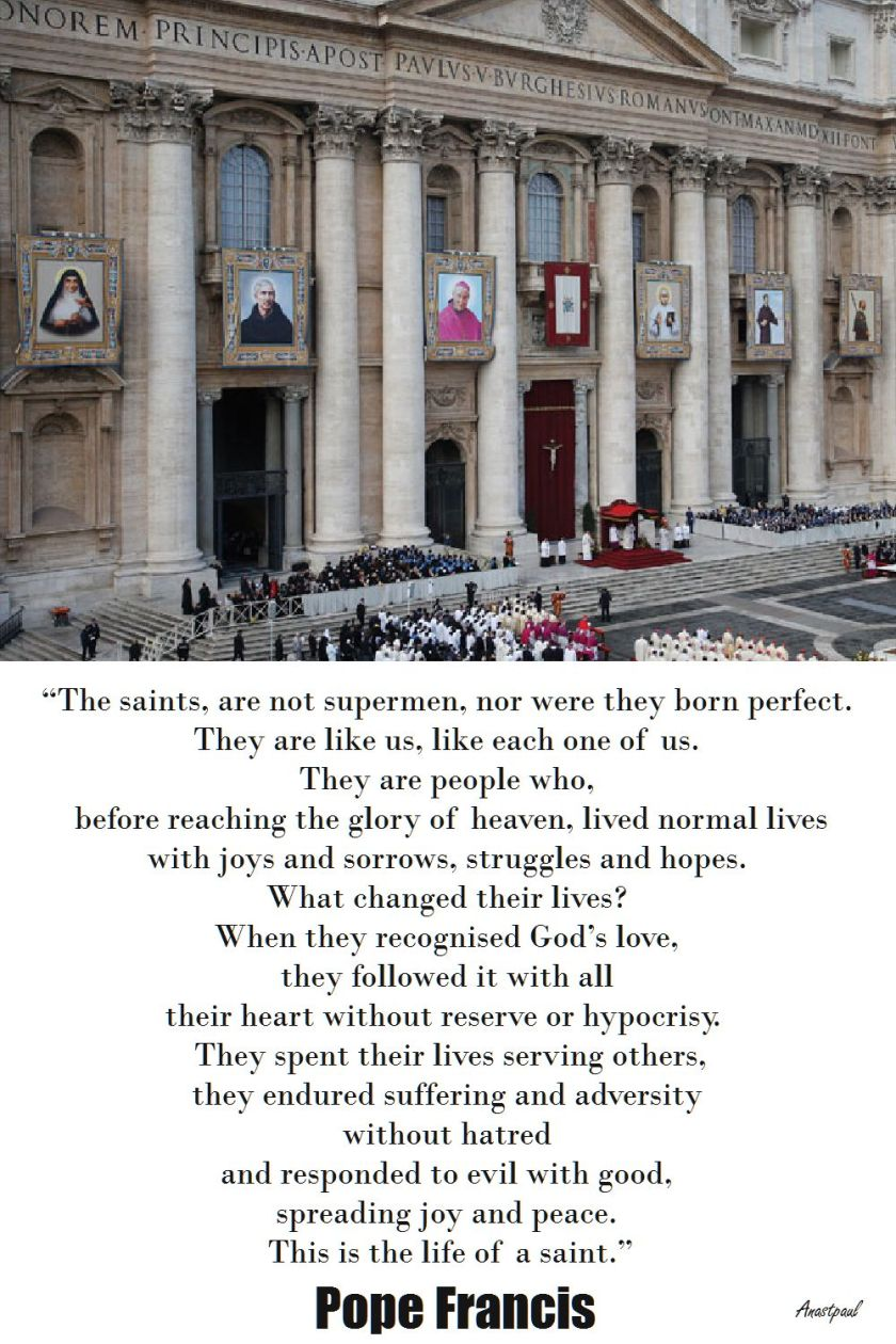 THE SAINTS - POPE FRANCIS