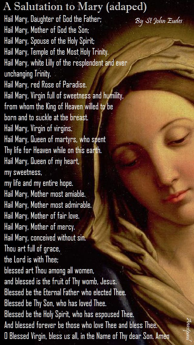 a salutation to mary by st john eudes