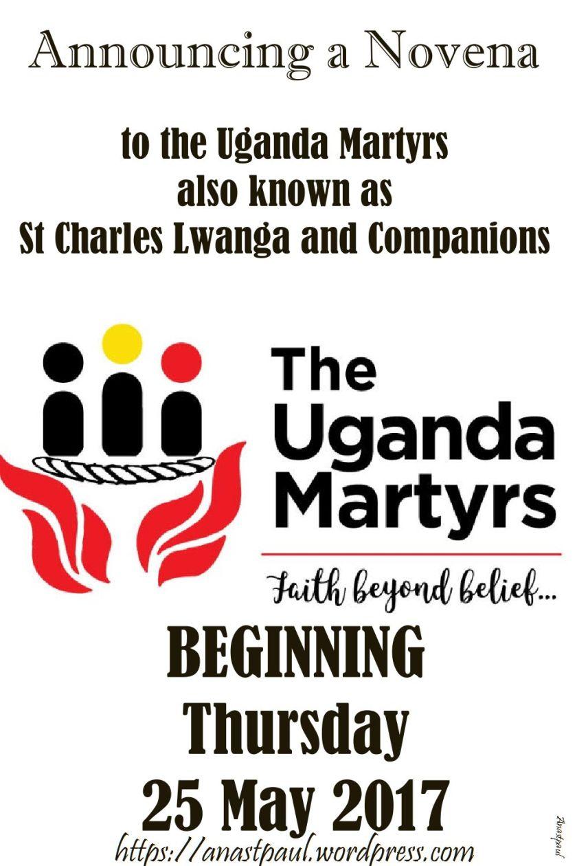 announcing a novena-uganda martyrs