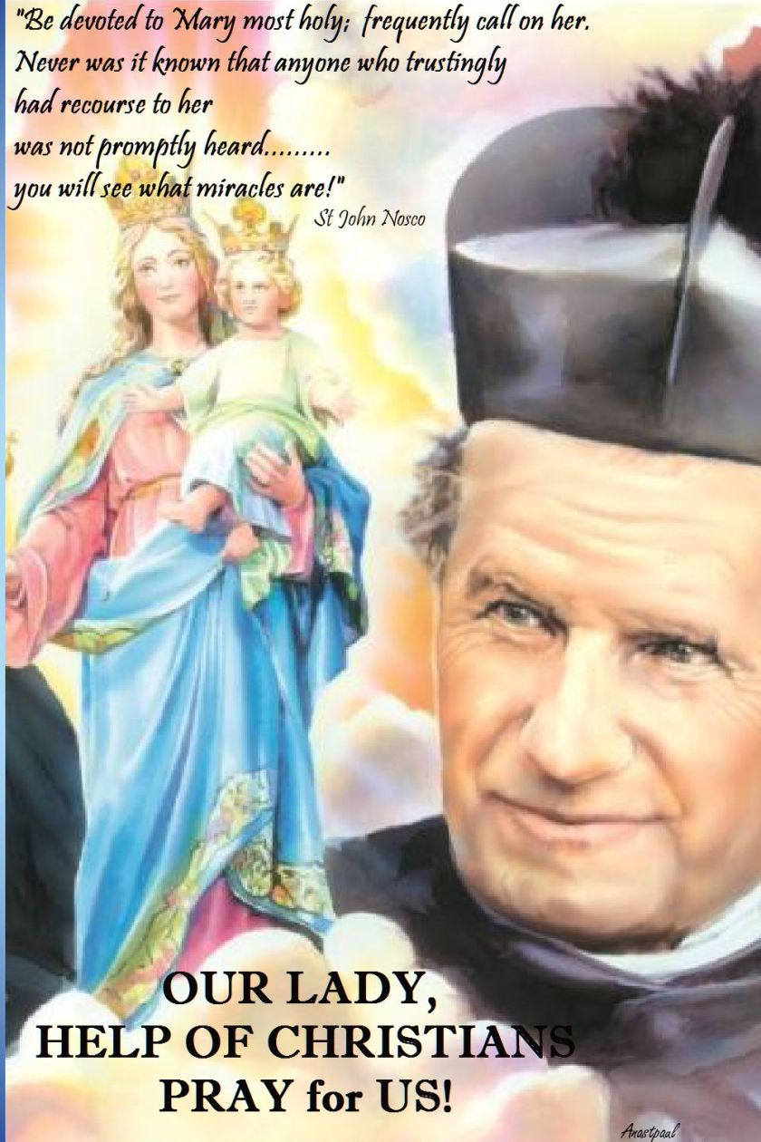be devoted to mary - st john bosco