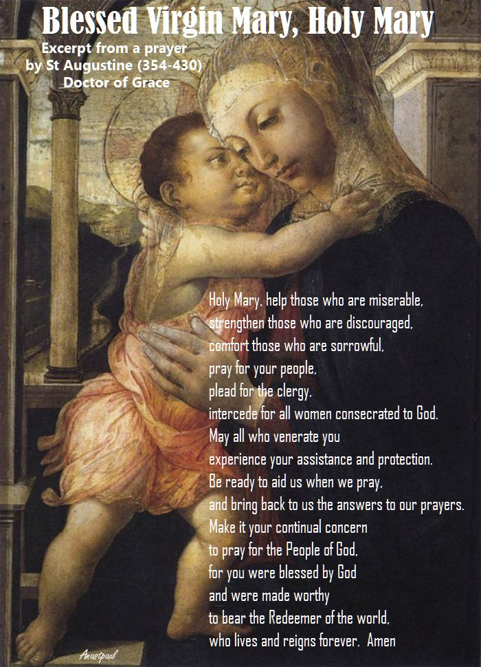 blessed virgin mary, holy mary - st augustine