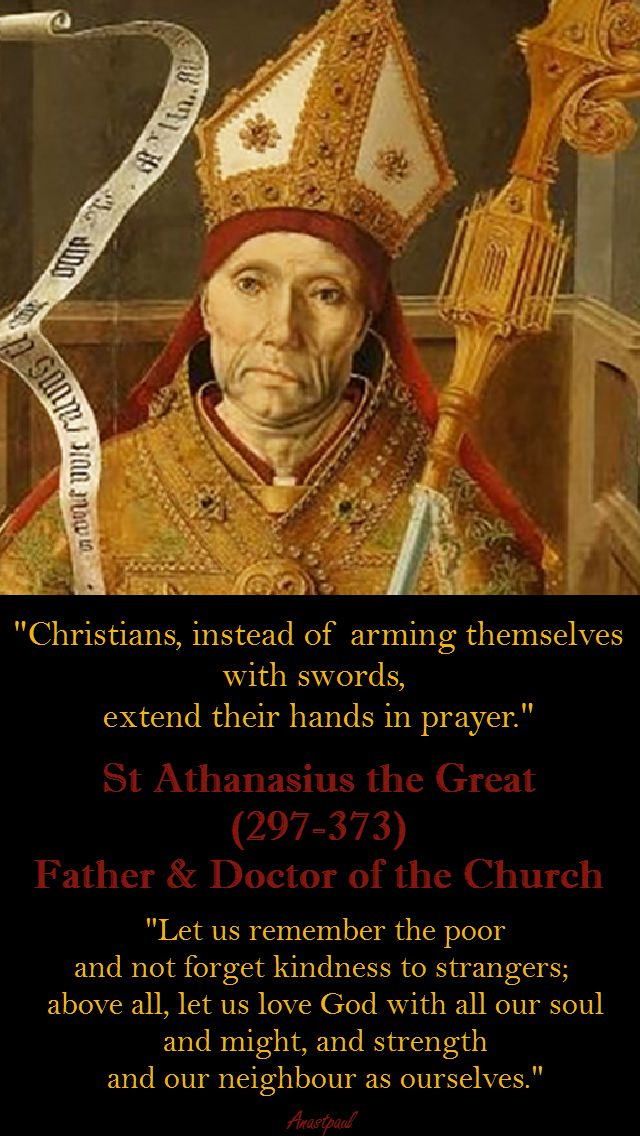 CHRISTIANS, INSTEAD OF - St Athanasius