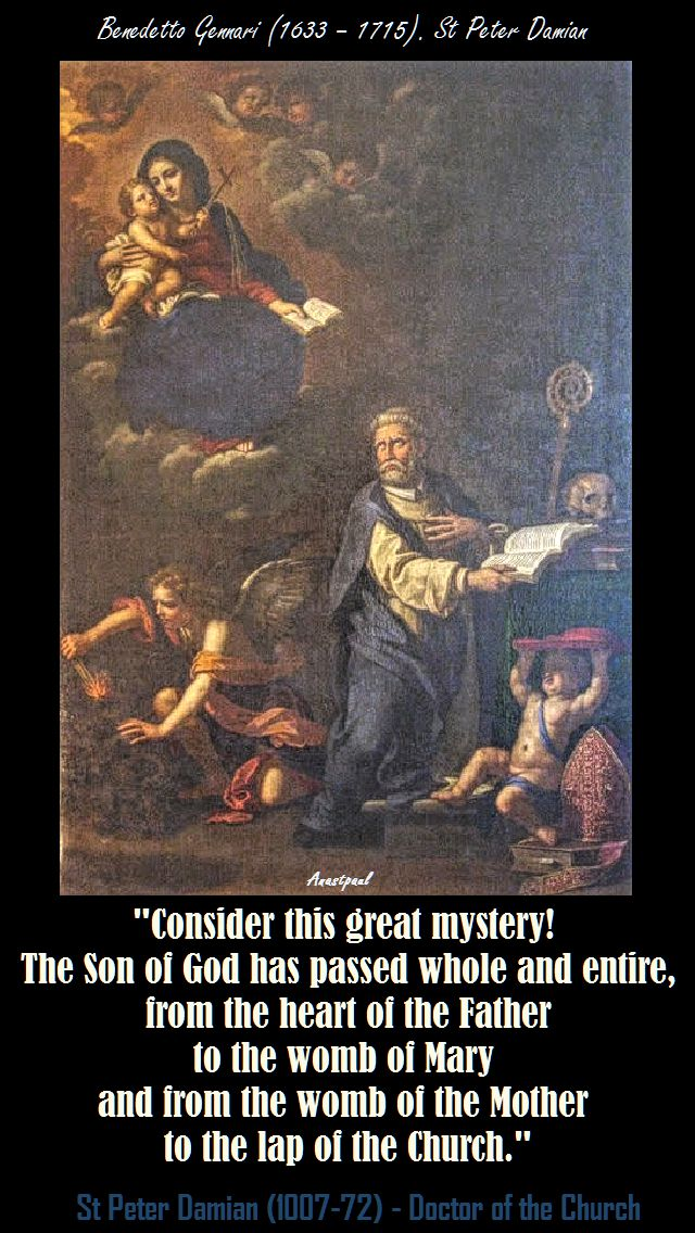 CONSIDER THIS GREAT MYSTERY-ST PETER DAMIAN