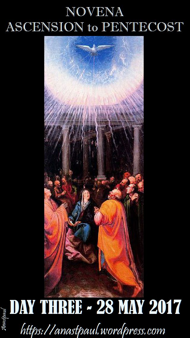 day three ascension to pentecost novena