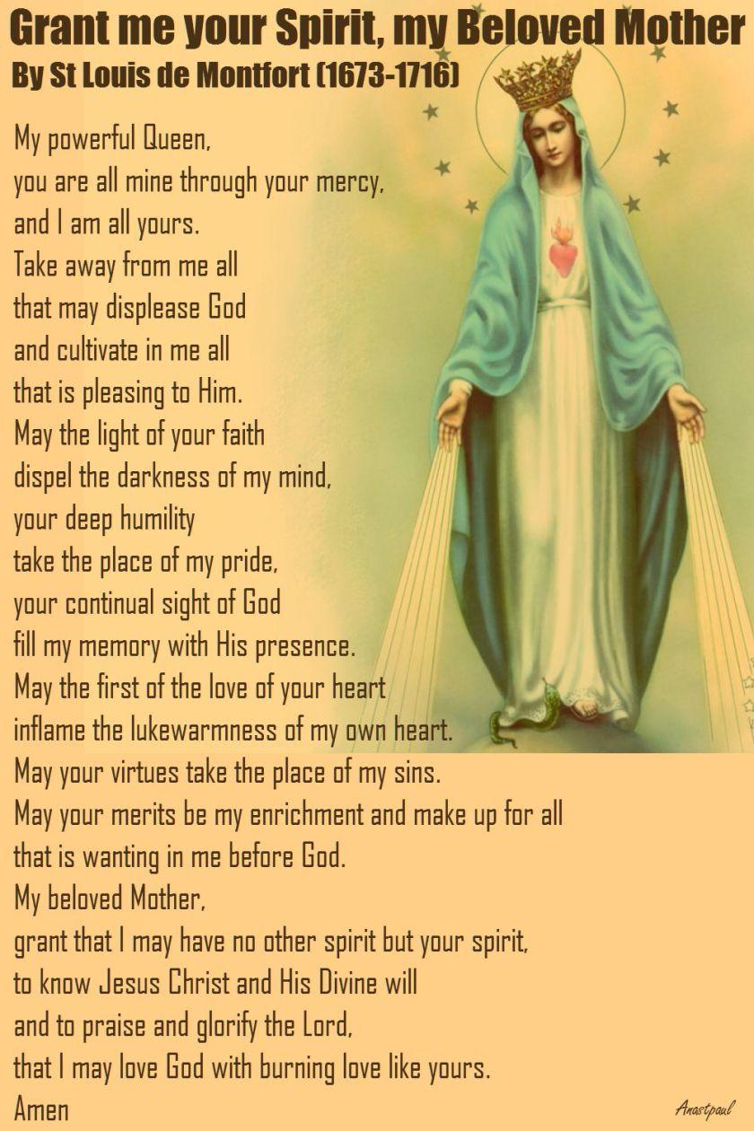 grant me your spirit-st louis de montfort