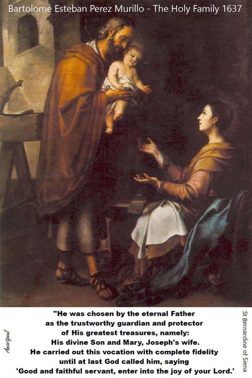 HE WAS CHOSEN BY THE ETERNAL FATHER-ST BERNARDINE
