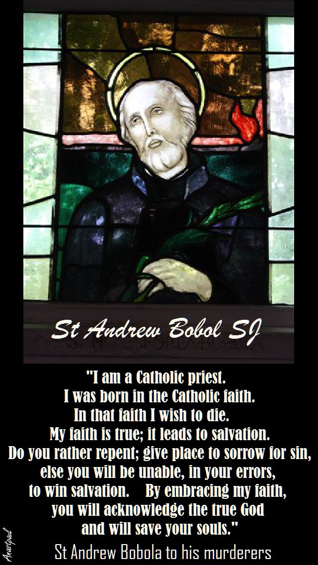 i am a Catholic priest - st andrew bobola