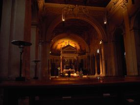 Interior of the Basilica of Saint Pancras,