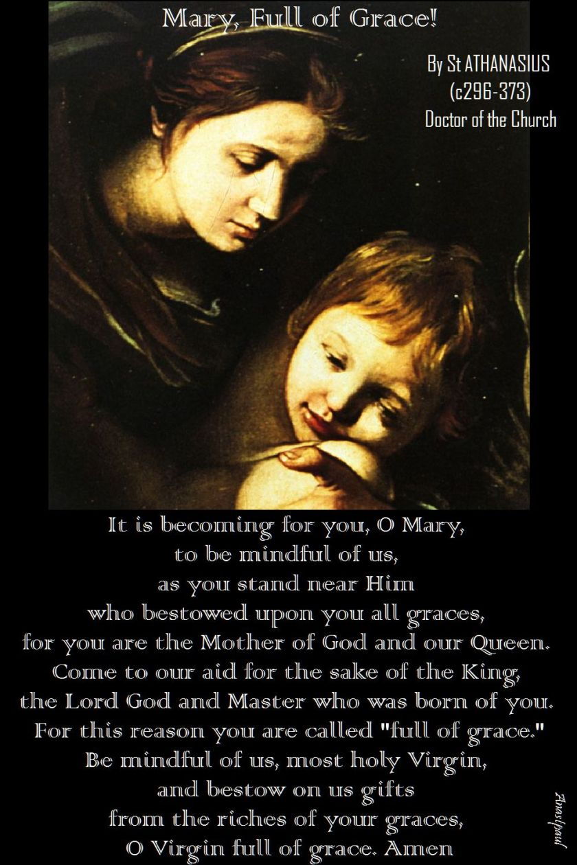 mary full of grace - st athanasius