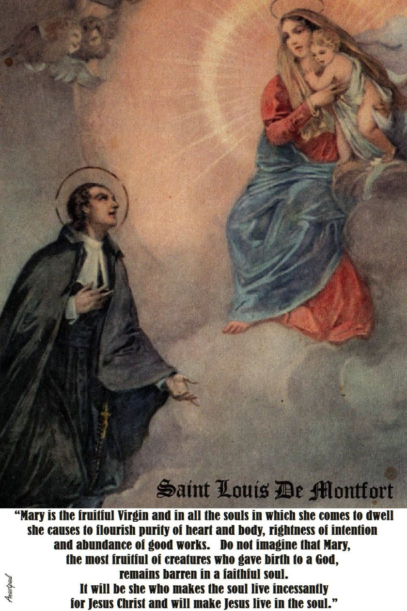 MARY IS THE FRUITFUL VIRGIN-ST LOUIS DE MONTFORT