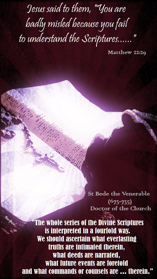 matthew 22-29-st bede the venerable -the whole series of the