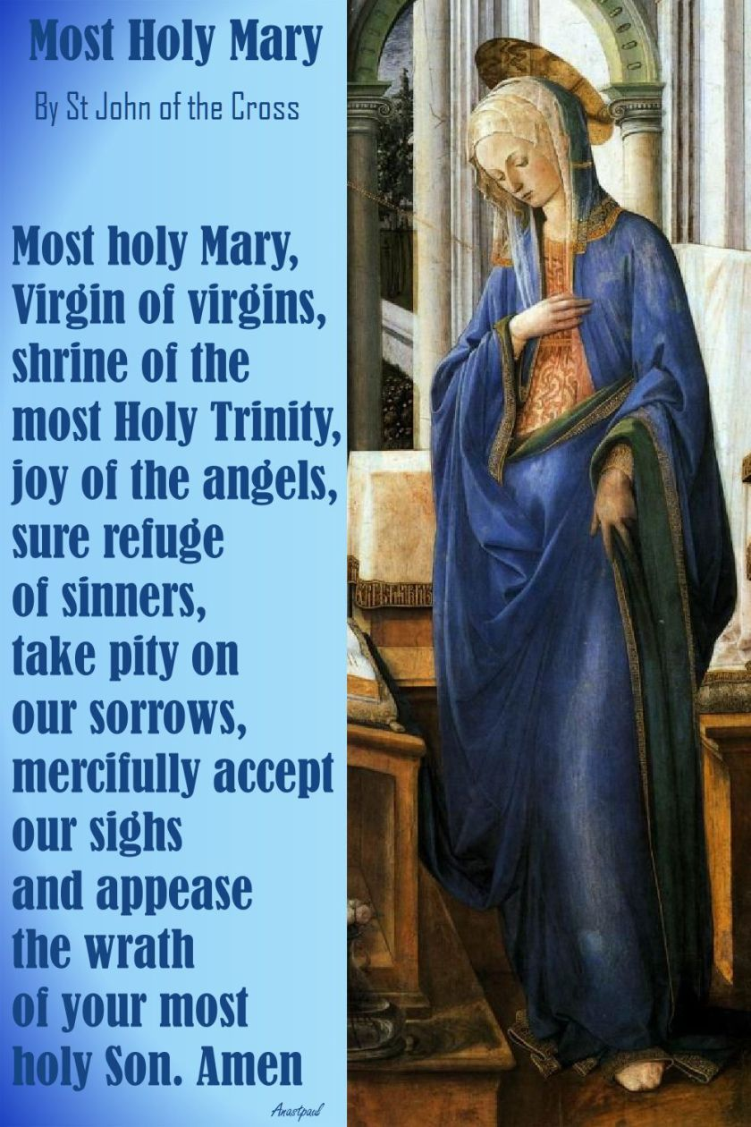 MOST HOLY MARY BY ST JOHN OF THE CROSS