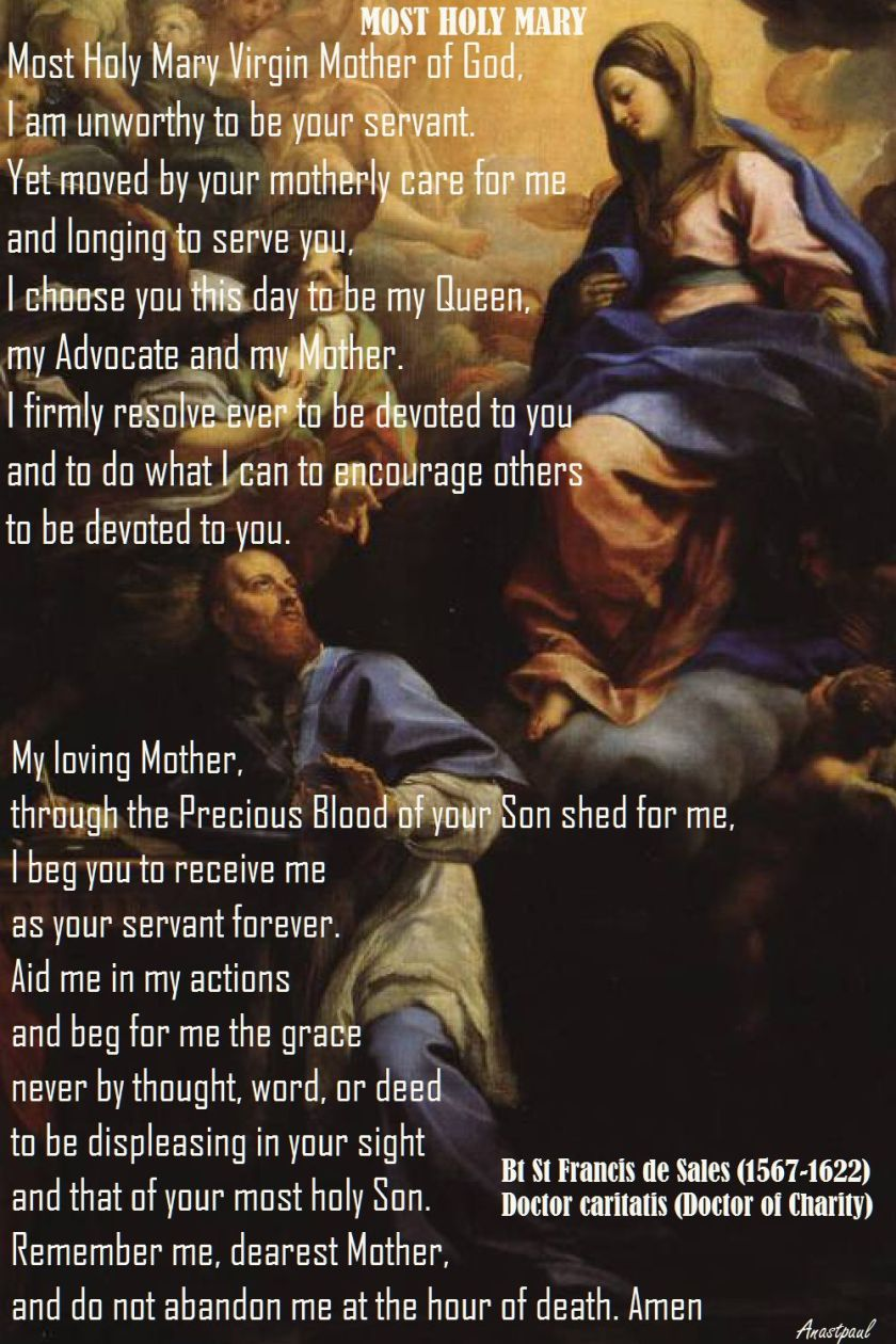 MOST HOLY MARY - ST FRANCIS DE SALES