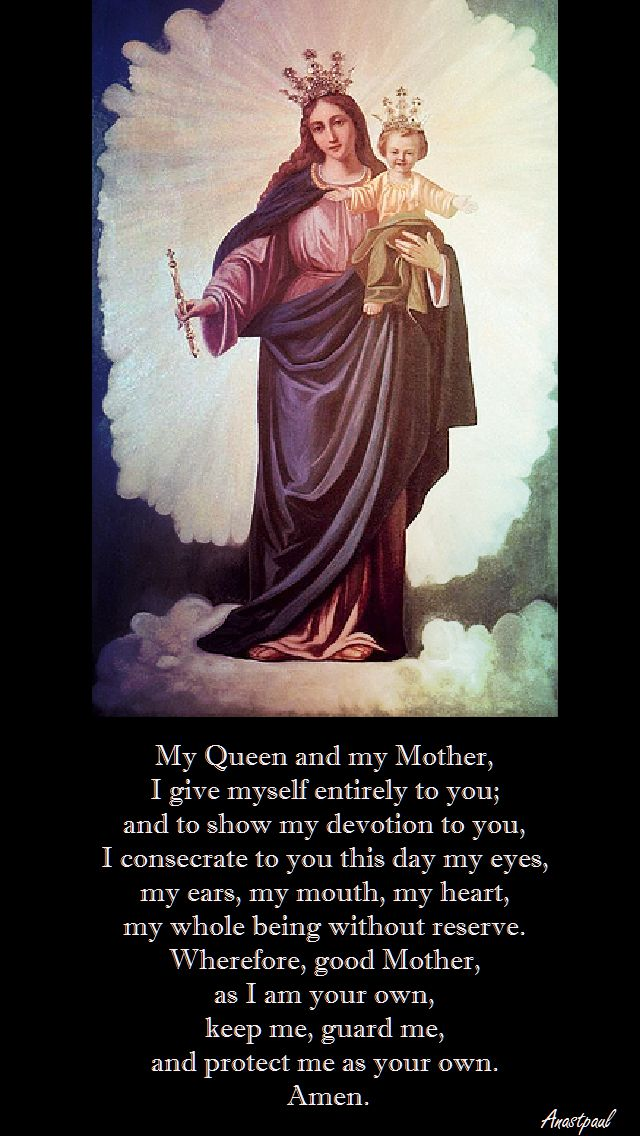 my queen my mother sonsecration prayer