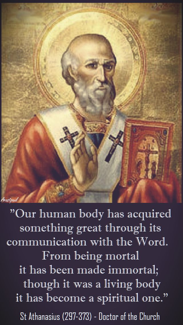 OUR HUMAN BODY-ST ATHANASIUS
